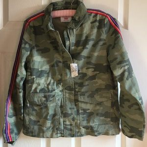 NWT The Children's Place camouflage rainbow jacket